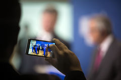 Jean-Claude Juncker и Petro Poroshenko Стоковые Фотографии RF