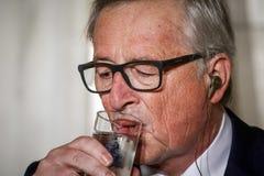 Jean-Claude Juncker-bezoek Griekenland Stock Foto