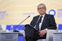 Jean-Claude Juncker. SAINT-PETERSBURG, RUSSIA - JUN 16, 2016: St. Petersburg International Economic Forum SPIEF-2016. President of the European Commission Jean Stock Images