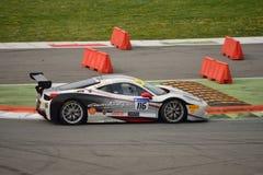 Jean-Claude Saada Ferrari 458 utmaning Evo på Monza Arkivfoto