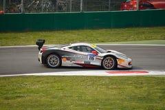 Jean-Claude Saada Ferrari 458 utmaning Evo på Monza Arkivfoton