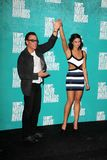 Jean-Claude Van Damme, Bianca Van Damme at the 2012 MTV Movie Awards Press Room, Gibson Amphitheater, Universal City, CA 06-03-12. Jean-Claude Van Damme, Bianca Royalty Free Stock Photo
