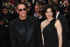 Jean-Claude Van Damme and Gladys Portugues Royalty Free Stock Image