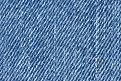 Jean cloth. Macro of a jeans texture Royalty Free Stock Images