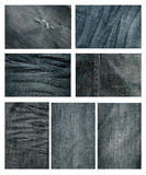 Jean cloth. Close up of jean texture Royalty Free Stock Images
