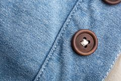 Jean cloth with buttons Royalty Free Stock Photography