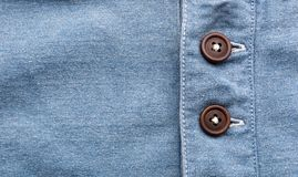 Jean cloth with buttons in a row Royalty Free Stock Photos
