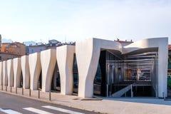 Jean Cocteau Museum på solnedgången royaltyfria foton