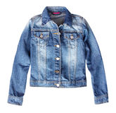 Jean denim female jacket isolated. Royalty Free Stock Photos