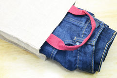 Jean and denim Stock Photography