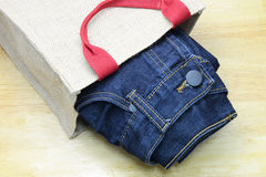 Jean and denim Royalty Free Stock Photography