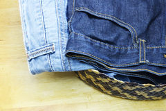 Jean and denim Royalty Free Stock Images