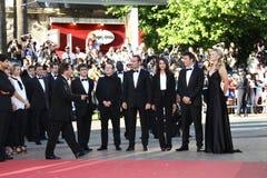 Jean Dujardin, Michel Hazanavicius, Berenice Bej Stockbilder