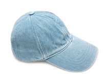 Jean fabric cap Stock Photos