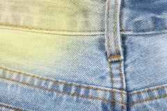 Jean fabric texture background, some part of short blue jean pan Stock Image