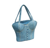 Jean handbag /isolated Stock Images