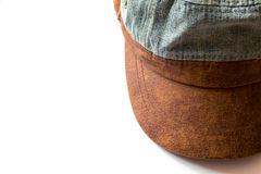 Jean hat. Isolated on white background royalty free stock images