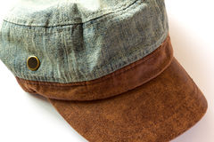 Jean hat. On white background royalty free stock image