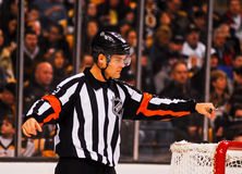Jean Hebert NHL Referee. NHL Referee Jean Hebert #43 Royalty Free Stock Images