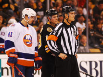 Jean Hebert NHL Referee Stock Images