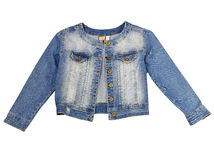 Jean jacket isolated. stock photography
