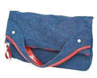 Jean ladies handbag Royalty Free Stock Images