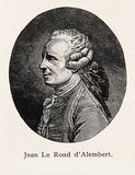 Jean Le Rond d' Alembert - engraving portrait Royalty Free Stock Photos