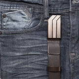 Jean and leather belt Stock Image