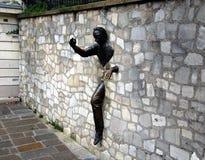 Jean Marais sculpture Le Passe-Muraille Royalty Free Stock Photo