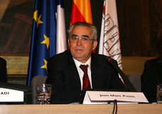 Jean-Marc Pujol, élu aujourd'hui maire de Perpignan Photo stock