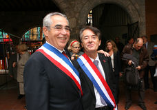 Jean-Marc Pujol, élu aujourd'hui maire de Perpignan Images stock