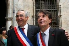 Jean-Marc Pujol, élu aujourd'hui maire de Perpignan Photos libres de droits