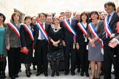 Jean-Marc Pujol, élu aujourd'hui maire de Perpignan Image libre de droits