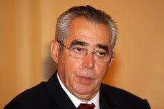 Jean-Marc Pujol, élu aujourd'hui maire de Perpignan Photographie stock libre de droits