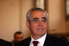 Jean-Marc Pujol, élu aujourd'hui maire de Perpignan Photos stock