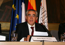 Jean-Marc Pujol, elected today Mayor of Perpignan Royalty Free Stock Image