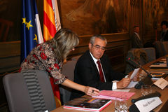 Jean-Marc Pujol, elected today Mayor of Perpignan Stock Image