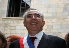 Jean-Marc Pujol, elected today Mayor of Perpignan. The new Mayor of Perpignan's Jean-Marc Pujol, elected today Mayor of Perpignan as a replacement of Senator Royalty Free Stock Image