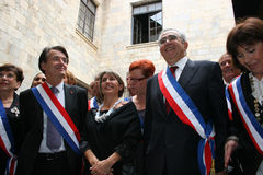Jean-Marc Pujol, elected today Mayor of Perpignan. The new Mayor of Perpignan's Jean-Marc Pujol, elected today Mayor of Perpignan as a replacement of Senator Royalty Free Stock Photos