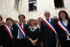 Jean-Marc Pujol, elected today Mayor of Perpignan Stock Photo