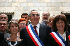 Jean-Marc Pujol, elected today Mayor of Perpignan Stock Photos