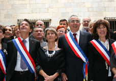 Jean-Marc Pujol, elected today Mayor of Perpignan Royalty Free Stock Photo
