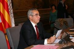 Jean-Marc Pujol, elected today Mayor of Perpignan. The new Mayor of Perpignan's Jean-Marc Pujol, elected today Mayor of Perpignan as a replacement of Senator Royalty Free Stock Photo