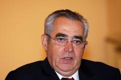 Jean-Marc Pujol, elected today Mayor of Perpignan. The new Mayor of Perpignan's Jean-Marc Pujol, elected today Mayor of Perpignan as a replacement of Senator Stock Image