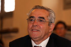 Jean-Marc Pujol, elected today Mayor of Perpignan Stock Photo