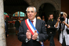Jean-Marc Pujol, elected today Mayor of Perpignan Stock Images