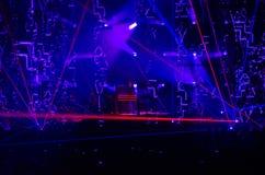 JEAN MICHEL JARRE - ELECTRONICA-REIS - LOS ANGELES - MEI 27 2017 Stock Fotografie
