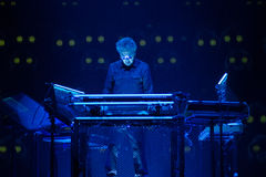 JEAN MICHEL JARRE - ELECTRONICA TOUR - LOS ANGELES - MAY 27 2017. Grammy-nominated artist and French electronic music composer and producer Jean-Michel Jarre's royalty free stock image
