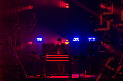 JEAN MICHEL JARRE - ELECTRONICA TOUR - LOS ANGELES - MAY 27 2017. Grammy-nominated artist and French electronic music composer and producer Jean-Michel Jarre's stock images