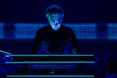 JEAN MICHEL JARRE - ELECTRONICA TOUR - LOS ANGELES - MAY 27 2017. Grammy-nominated artist and French electronic music composer and producer Jean-Michel Jarre's stock photos